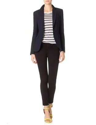 Rag and Bone Rag & Bone Navy Contrast Timeless Blazer