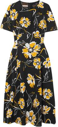 Michael Kors Floral-print Silk Dress