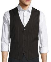 Asstd National Brand WD.NY Black Pinstripe Vest