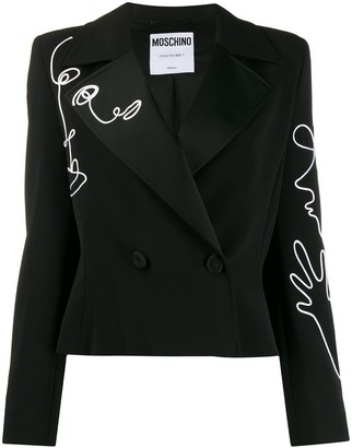Moschino Cornely-embroidered blazer