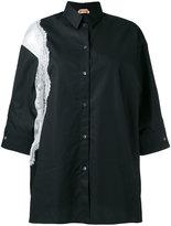 No.21 lace trim shirt - women - Cotton - 44