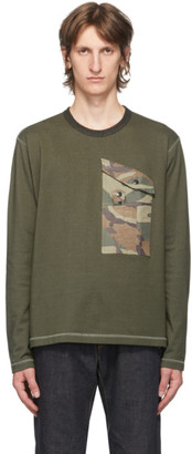 Junya Watanabe Khaki Camo Pocket Long Sleeve T-Shirt