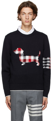 Thom Browne Navy Hector Icon Sweater