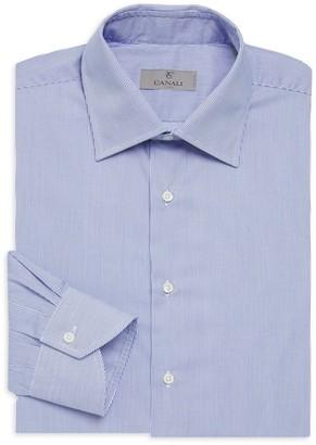 Canali Narrow Bangle Stripe Cotton Dress Shirt