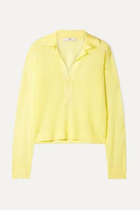 Tibi Open-knit Sweater - Yellow
