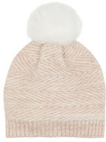 "Oasis KNITTED BOBBLE HAT [span class=""variation_color_heading""]- Pale Pink[/span]"