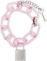MM6 MAISON MARGIELA logo padlock chain bracelet