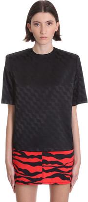 ATTICO Bella T-shirt In Black Viscose
