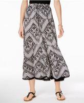 NY Collection Drawstring Maxi Skirt