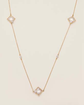 Freida Rothman Gold-Tone Visionary Fusion Large Stone Station Necklace