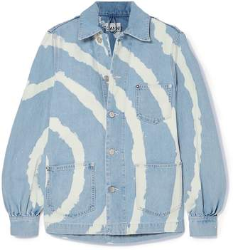 Ganni Blackstone Bleached Denim Jacket