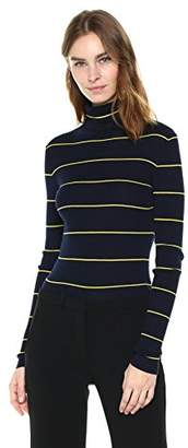 Theory Women's Striped Long Sleeve Crop Tneck