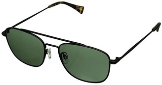 Raen Barolo 56 (Black/Matte Brindle/Green Polarized) Athletic Performance Sport Sunglasses