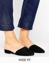 New Look Wide Fit Suedette Flat Mule