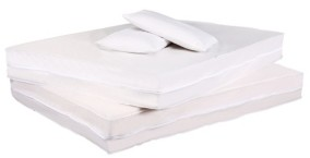 Permafresh Antibacterial and Water Resistant 4-Piece Complete Bed Protector Set Bedding