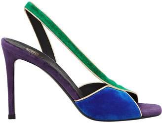 Balmain Macy Velvet Slingback Sandals