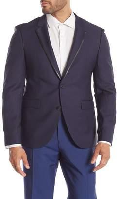 BOSS Arwet Leather Trim Extra Slim Fit Blazer Jacket