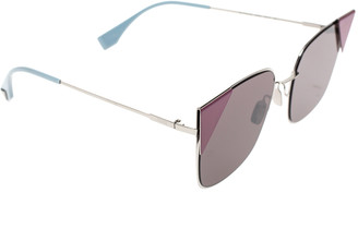 Fendi Burgundy FF 0191/S Cat Eye Sunglasses