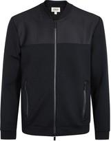 Armani Collezioni Navy Textured Jersey Jacket