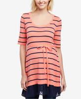 Motherhood Maternity Striped Layered-Look Sweater
