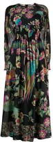 RED Valentino Long Sleeve Forest Print Dress