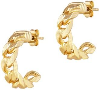 Electric Picks Bond Chain Hoop Earrings