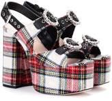 Miu Miu Embellished plaid sandals