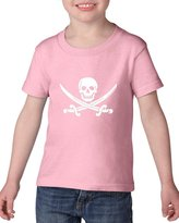 Artix Happy Skull Pirate with Swords Toddler Kids T-Shirt Tee Clothing