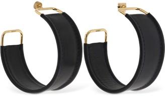 Jacquemus Les Fauteuils Big Hoop Leather Earrings