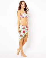 South Beach Connie Floral Print Cotton Sarong