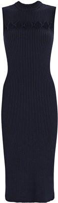 Victoria Beckham Cut-Out Rib Knit Midi Dress