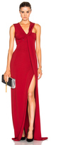 Thierry Mugler Jersey Crepe Dress in Red.