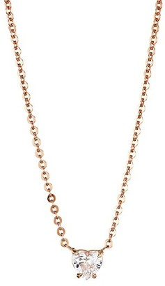 Anita Ko 18K Rose Gold & Heart Diamond Solitaire Necklace