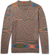 Missoni - Space-dyed Knitted Cotton Henley T-shirt