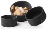 Menu New Norm, Felt Bread Basket, Set of 3, Grey
