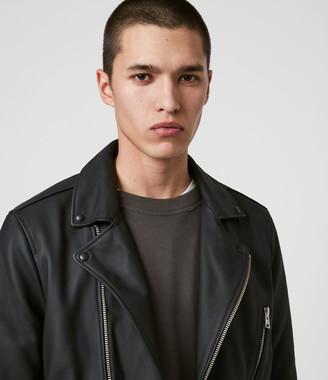 AllSaints Bloc Leather Biker Jacket