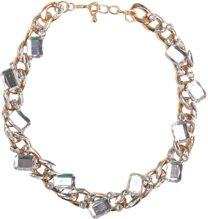 Arden B Gem-Embellished Chain Necklace
