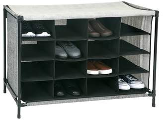 Kennedy International Inc. Black Simplify 16 Compartment Shoe Cubby