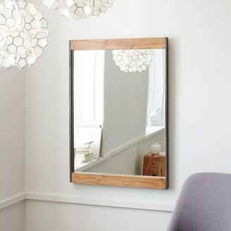 """west elm Industrial Metal & Wood 36"""" Wall Mirror"""