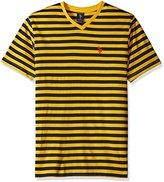 U.S. Polo Assn. Men's V-Neck Bengal Stripe T-Shirt