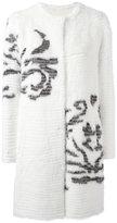 Liska - single breasted shearling coat - women - Mink Fur/Cashmere/Mercerized Wool - 3