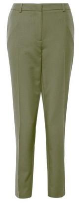 Dorothy Perkins Womens Tall Khaki Ankle Grazer Trousers, Khaki