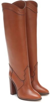 Saint Laurent Grace 105 leather knee-high boots