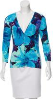 Blumarine Printed Knit Cardigan