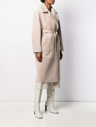Blancha belted double-breasted coat