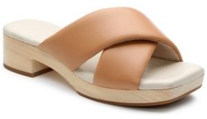 Sanctuary Lively Soft-Leather Wooden Platform Sandals Women's Shoes
