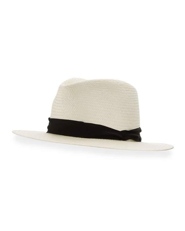 Rag & Bone Panama Straw Hat, White