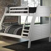 Powell Easton Twin/Full Bunk Bed in White