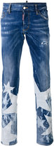 DSQUARED2 Sexy Bootcut stonewashed star jeans - men - Cotton/Polyester/Spandex/Elastane - 46