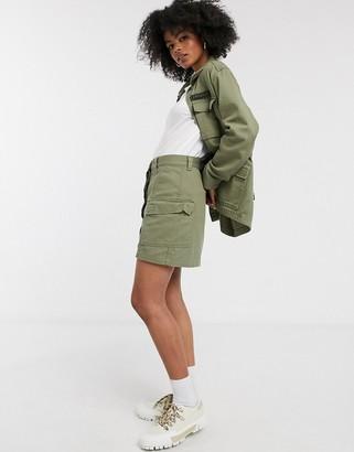 Dr. Denim utility pocket skirt